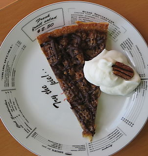 Top view pecan tart