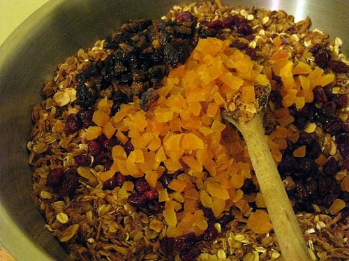 Granola with Dried Figs Cranberries and Apricots