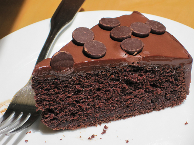 Banana Chocolate Cake Slice