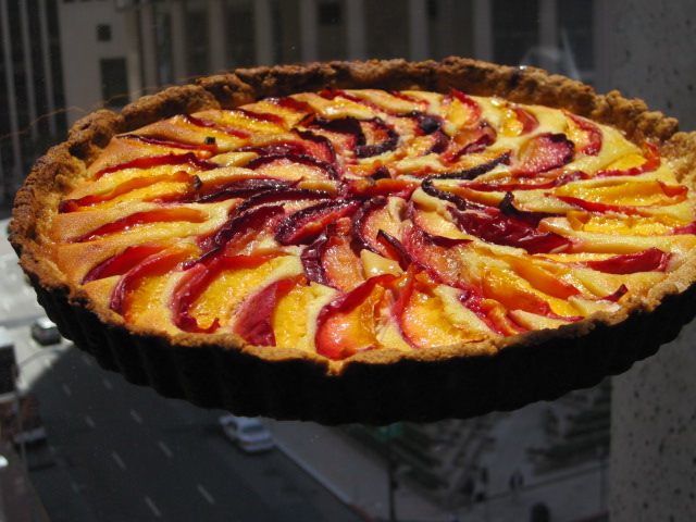 Flying sauce stone fruit tart