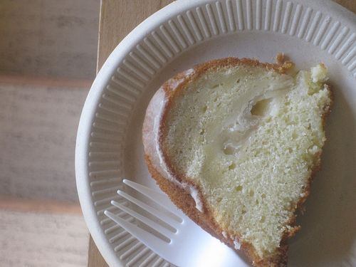 Swedish pear cake slice