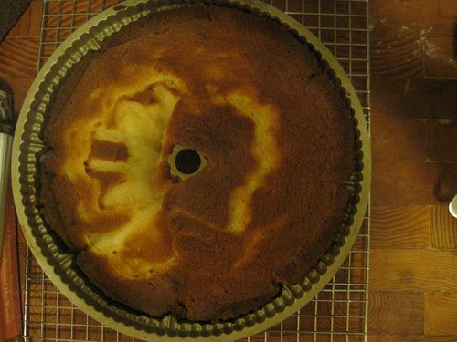 Swedish Pear Cake Cooling
