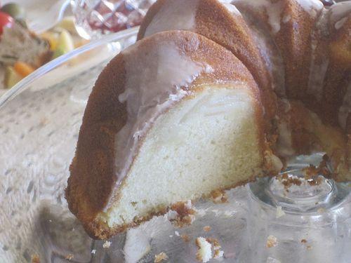 Swedish Pear Cake Side View