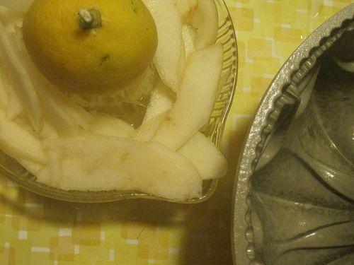 Pear Slices in Lemon Juice