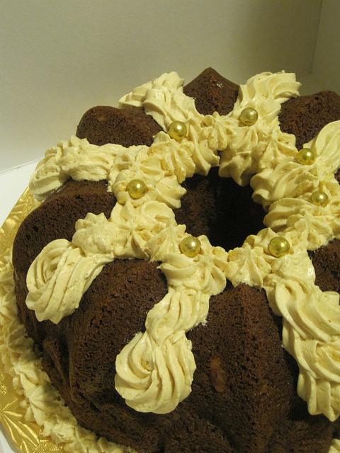 Pumpkin Cake with Silk Meringue Buttercream