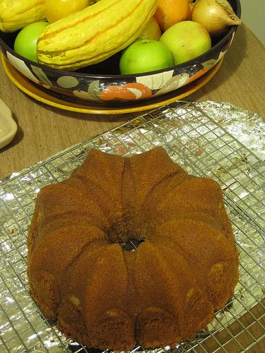 Golden Lemon Almond Bundt Cake