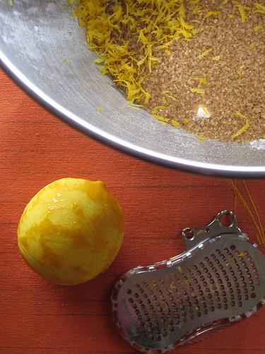 Turbinado Sugar and Lemon Zest