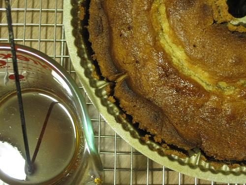 Skewering Lemon Cake